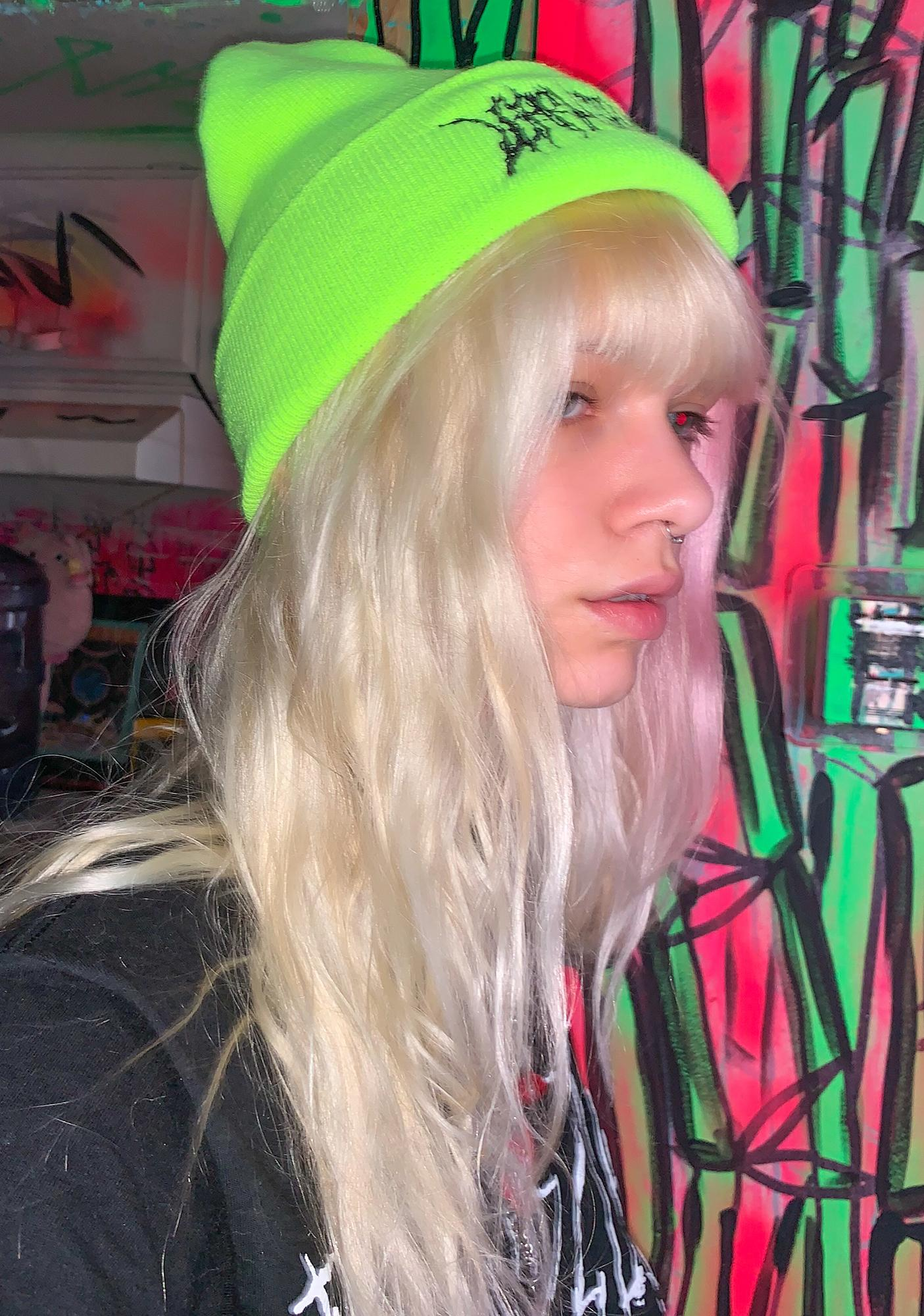 Learn To Forget  Death Metal Neon Beanie