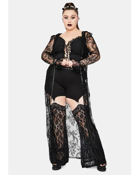 Studying Demonology Lace Bell Sleeve Duster