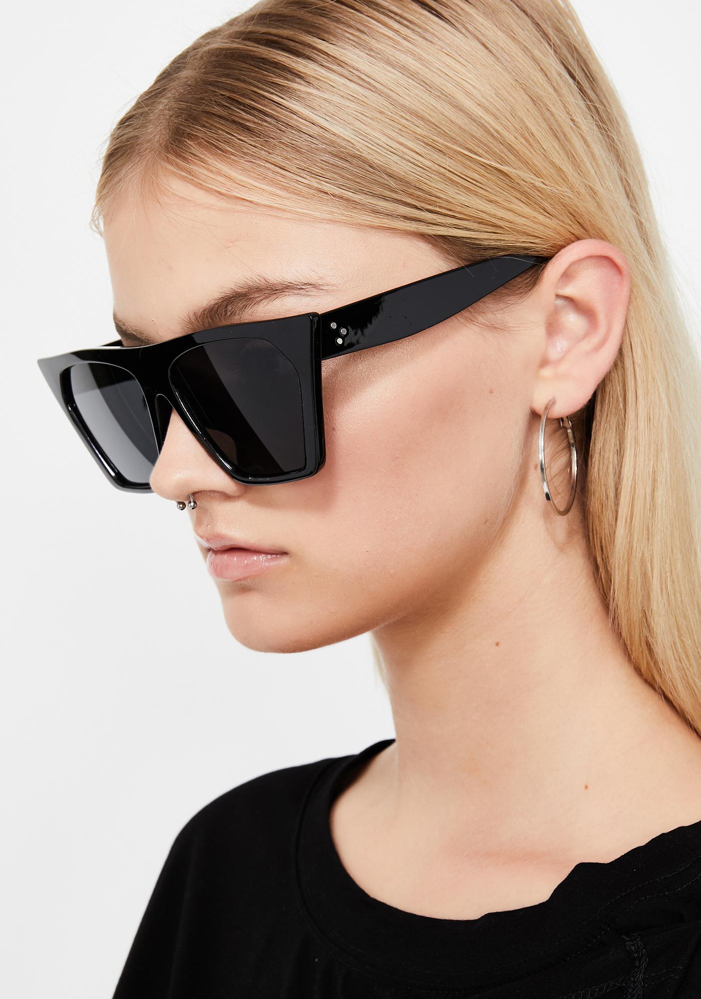 d11872a60e2 Dark Techno Baddie Cat Eye Sunglasses