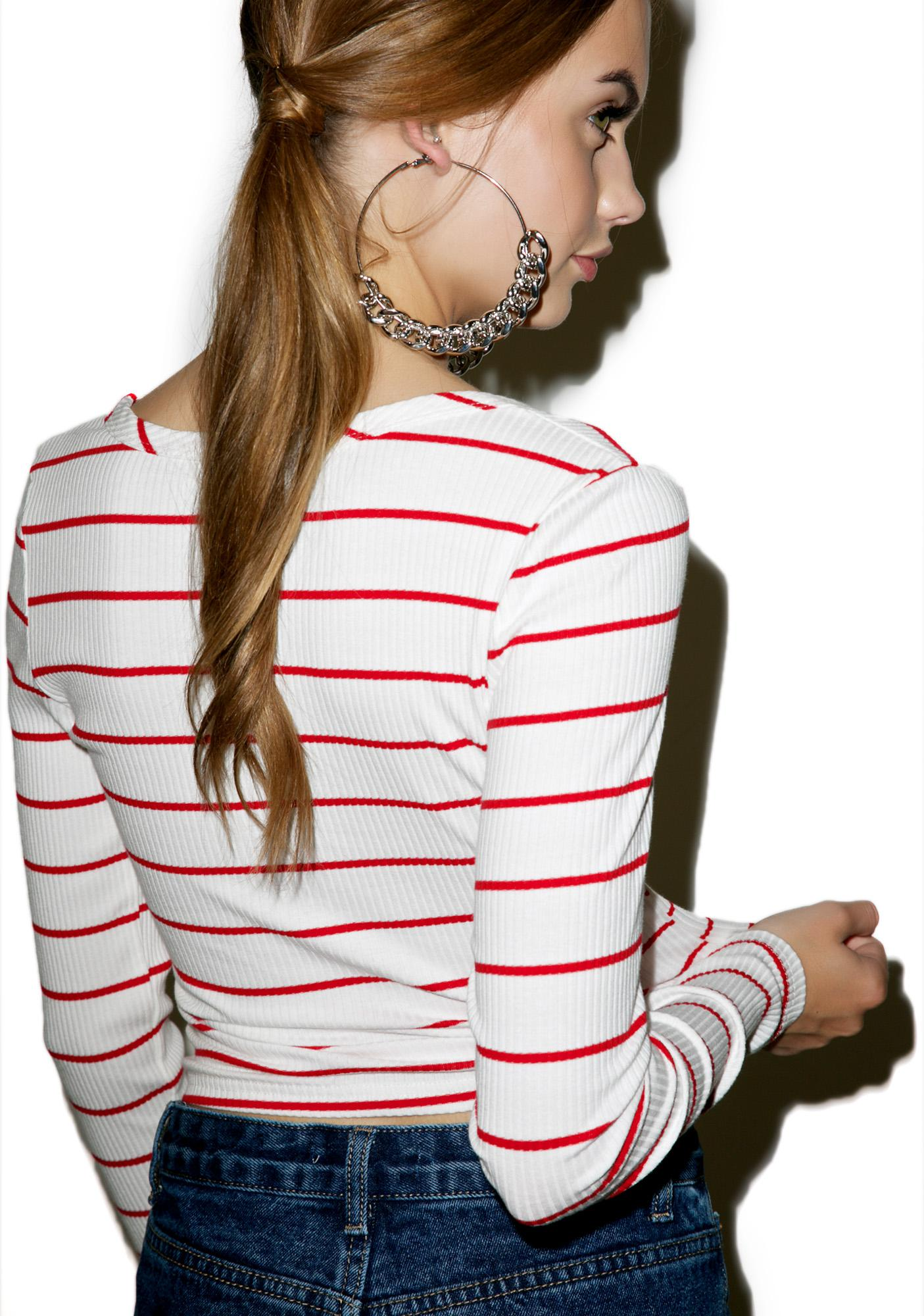 Glamorous Stripe Tribe Long Sleeve Top