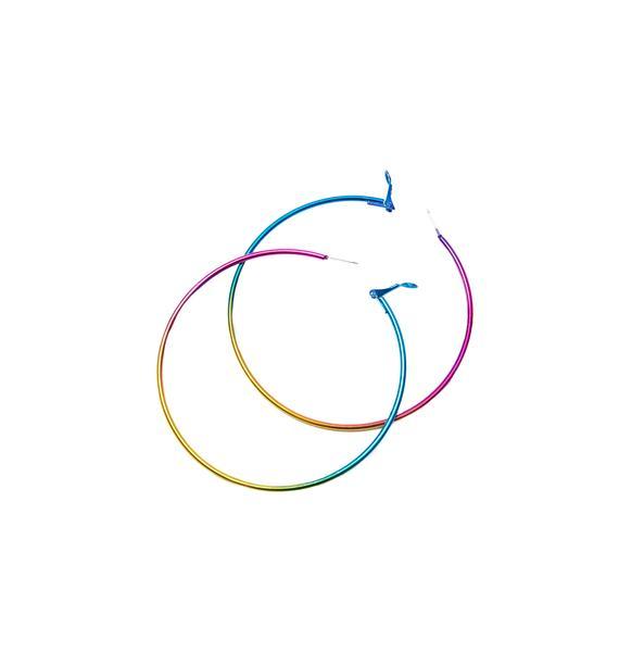 Chromashock Rainbow Hoop Earrings