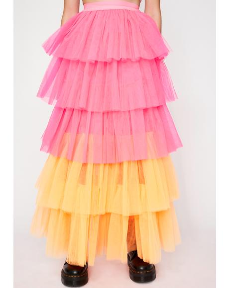 Belle Fluorescence Tulle Skirt