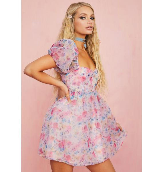 Sugar Thrillz Fun Filled Fantasy Floral Dress