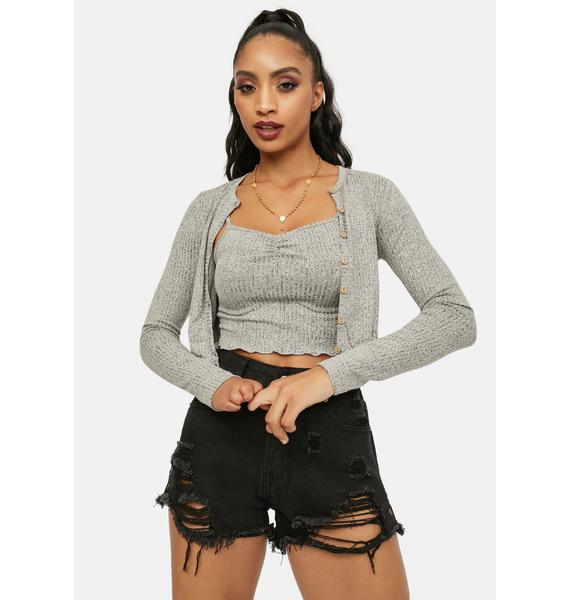 Storm Ready For Love Ribbed Cami Set