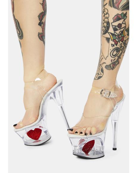Clear Love Unleashed Platform Heels