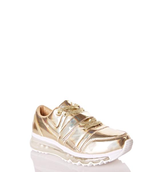 Y.R.U. Golden Aiire Light-Up Sneakers