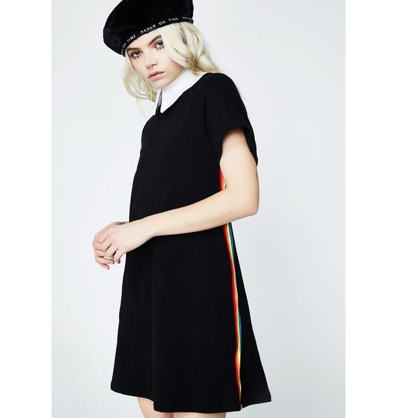 Color Flash T-Shirt Dress