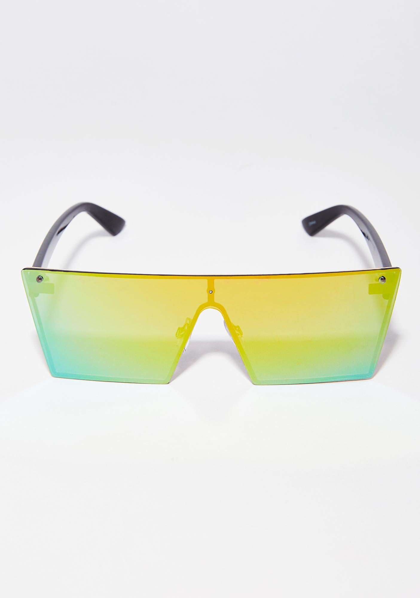 Lime Behind The Light Sunglasses