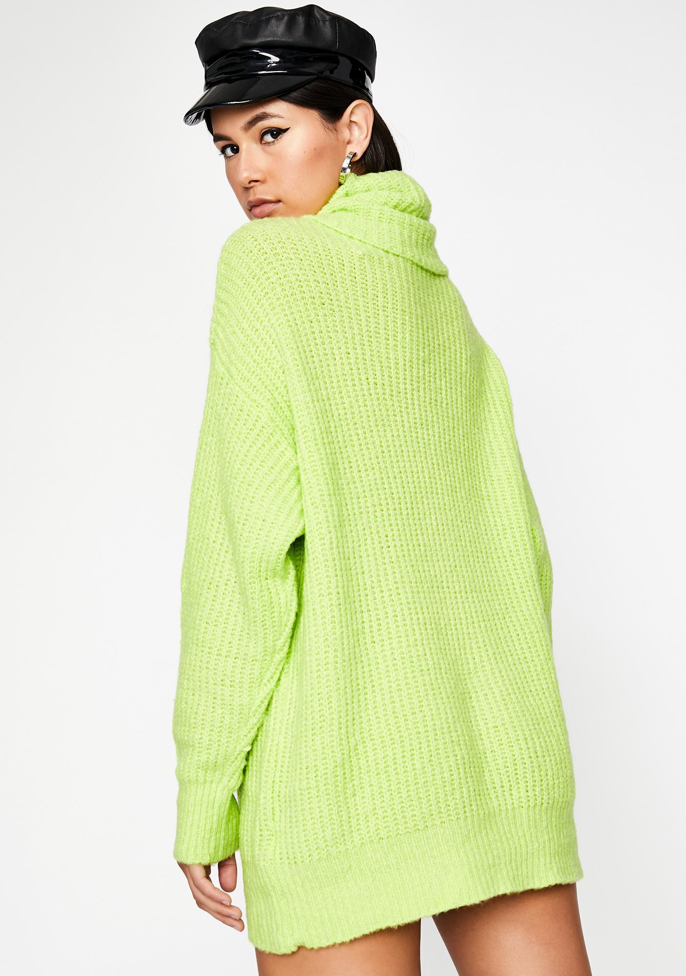 Glowin' Shy Beginning Sweater Dress