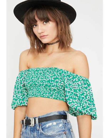 Daisy Wonderland Crop Top