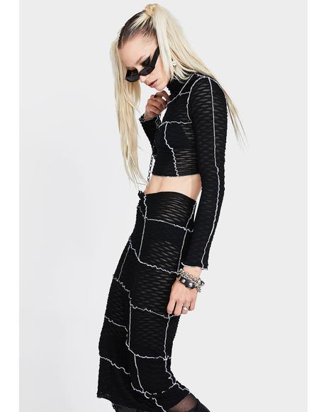 Ink So Overlooked Midi Skirt