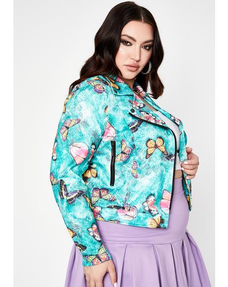 Her Fluttering Euphoria Moto Jacket