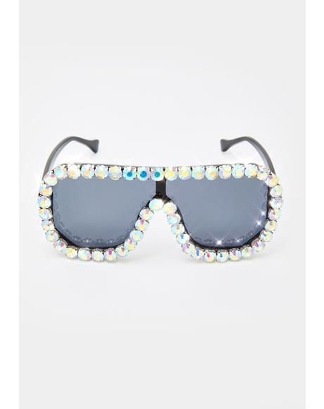 Calmly Locked N' Loaded Aviator Sunglasses