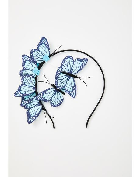 Fly Too High Butterfly Headband