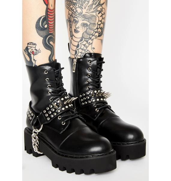 Lamoda Deviant Spiked Combat Boots