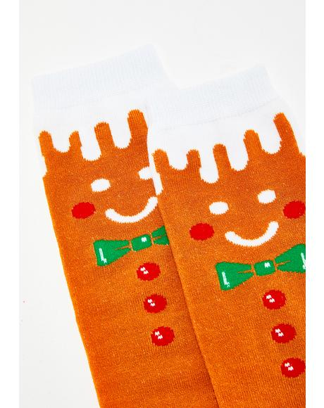 Good Enough To Eat Gingerbread Socks