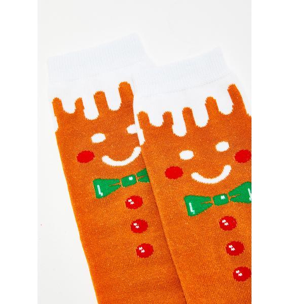 Good Enough To Eat Gingerbread Socks