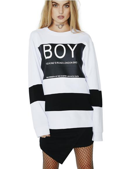 BOY Local Striped Sweatshirt
