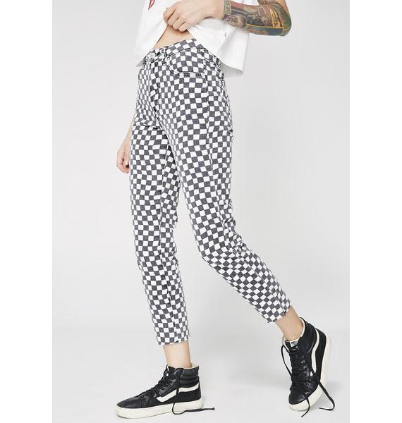 Insight Tina Checkered Mom Jeans