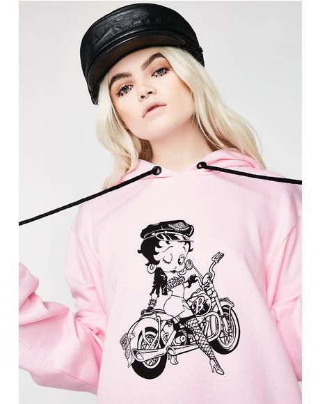 Betty Boop Biker Hoodie