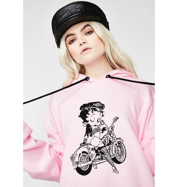 Lazy Oaf Betty Boop Biker Hoodie