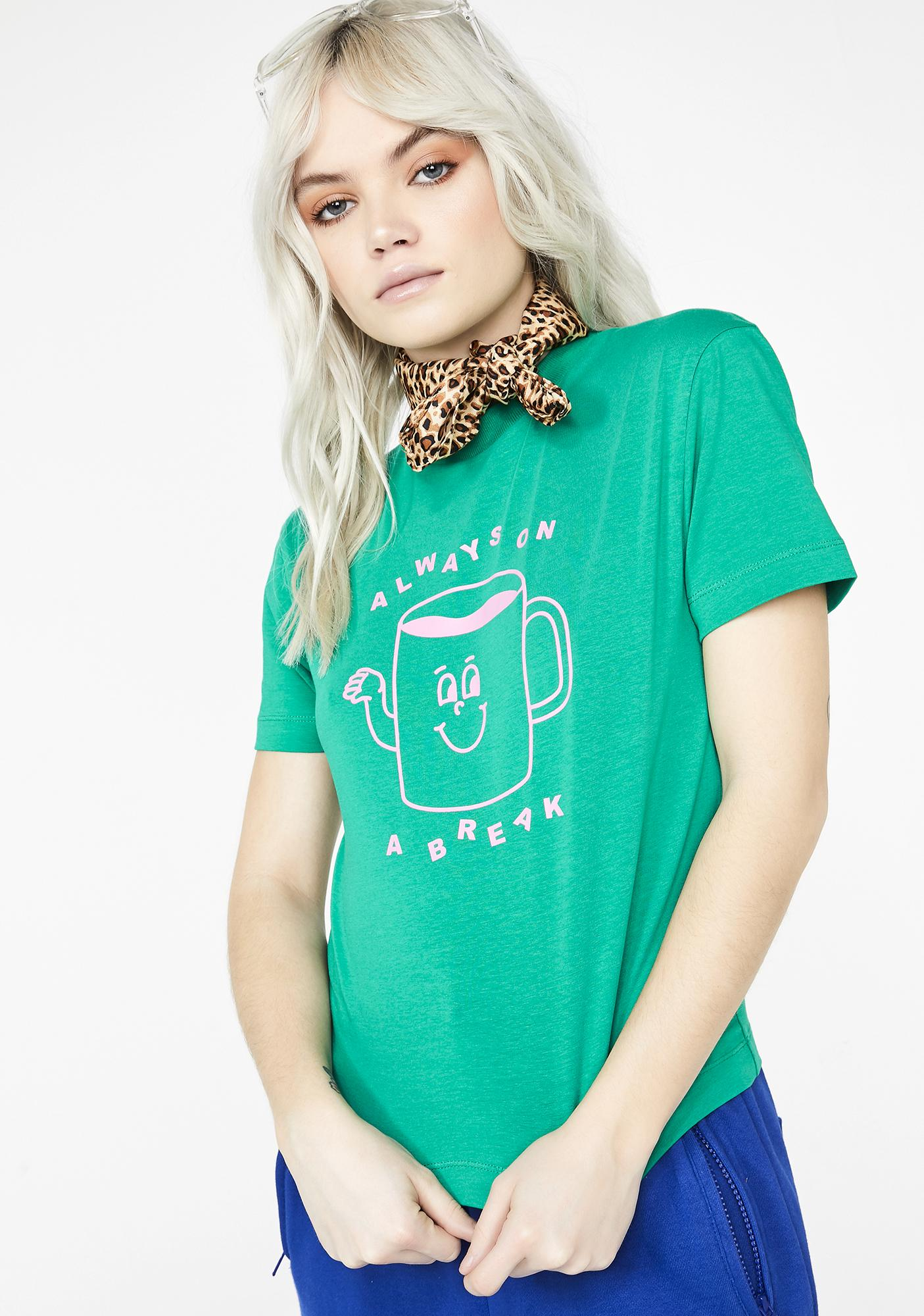 Lazy Oaf Always On A Break Fitted Tee