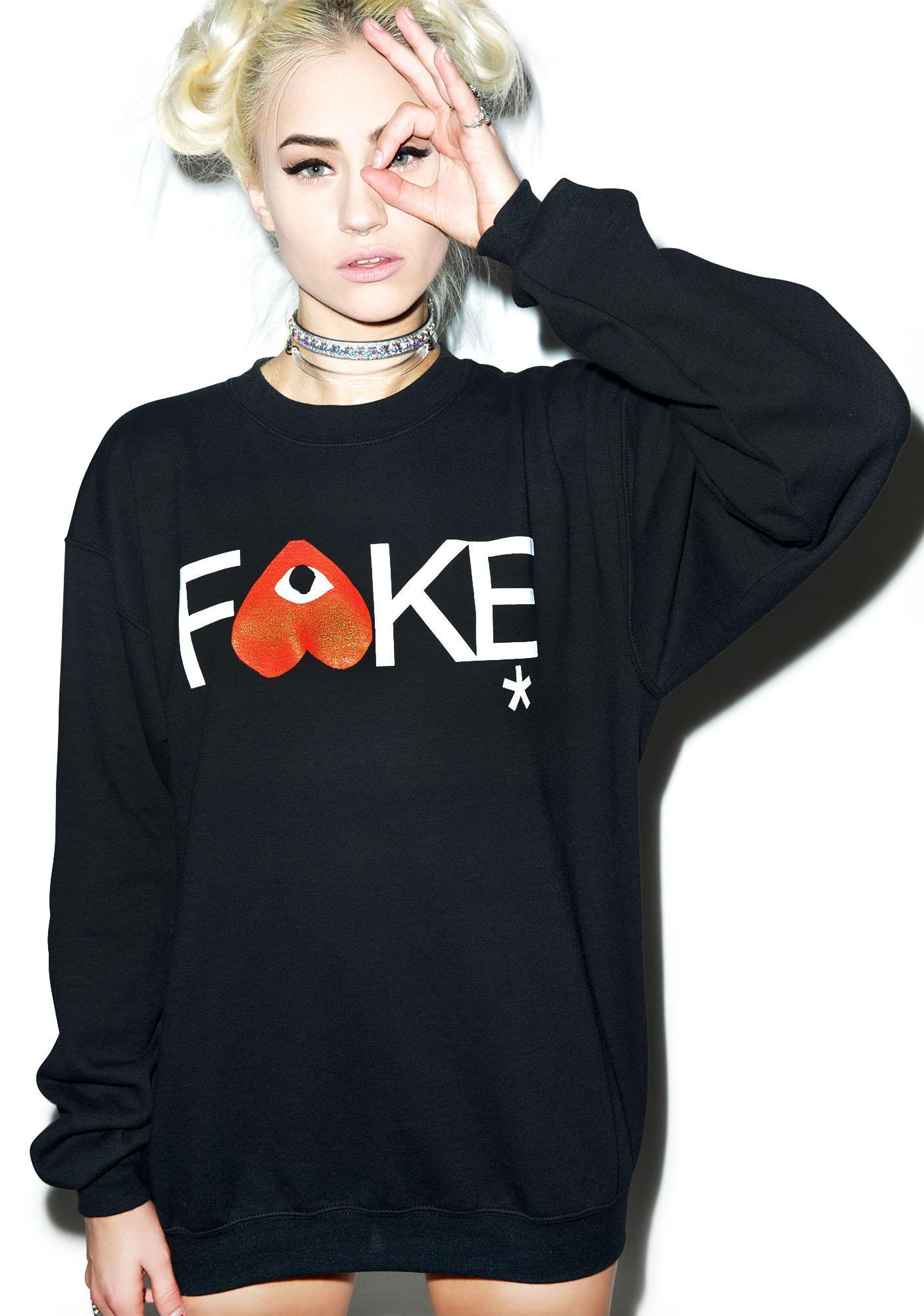 Petals and Peacocks Fake Gar-Con Sweatshirt