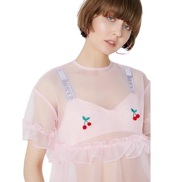 Lazy Oaf Sheer Cherry Dress