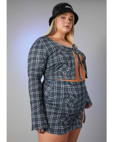 Luxe Never The Same Plaid Skirt Set