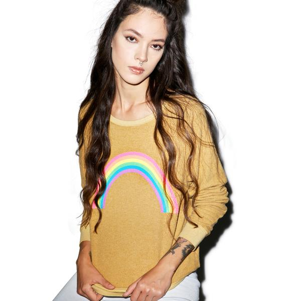 Wildfox Couture Rainbow Baggy Beach Jumper
