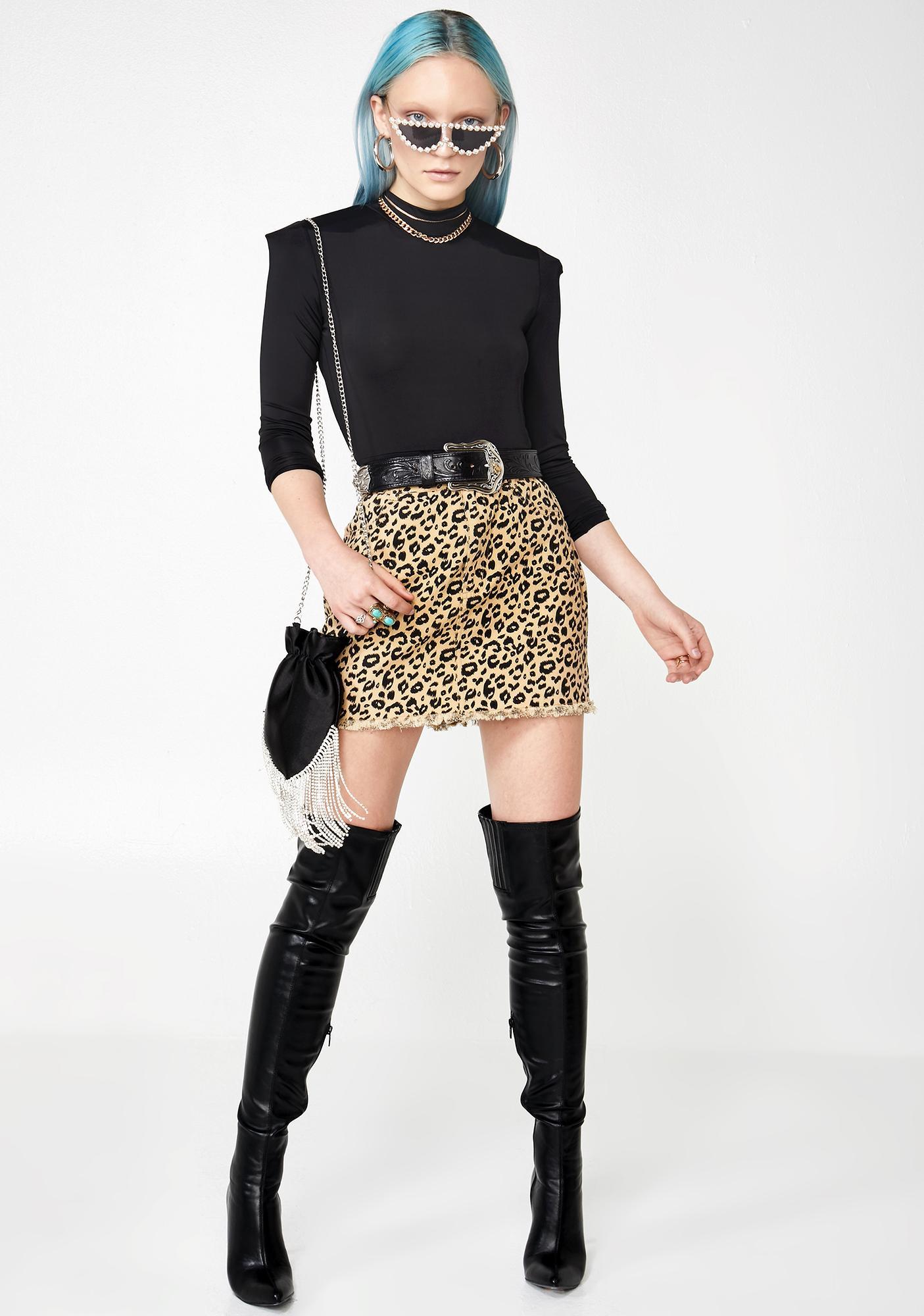 Malt She Cat Sass Leopard Skirt