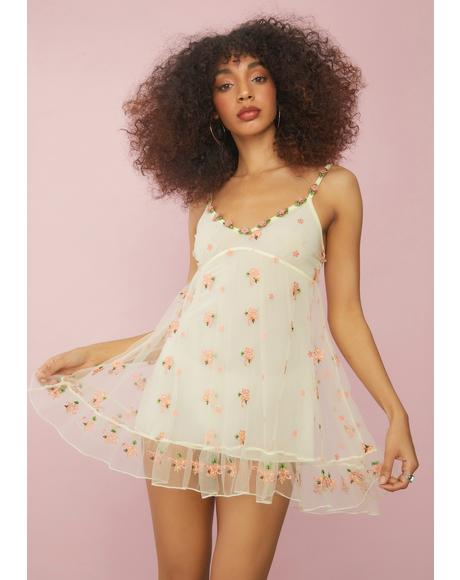 Cream Blooming Belle Slip Dress