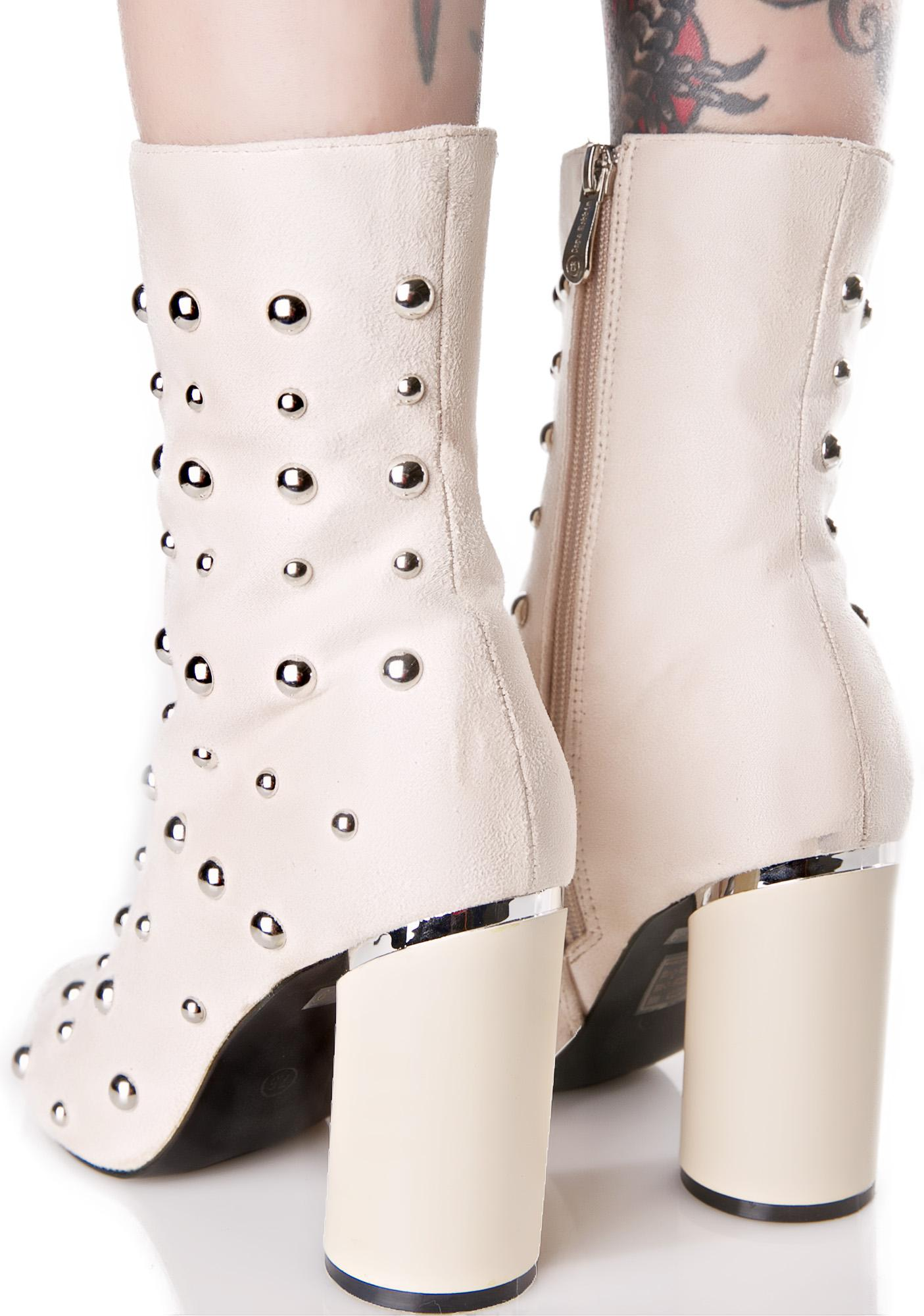 Nude Cerebral Studded Boots