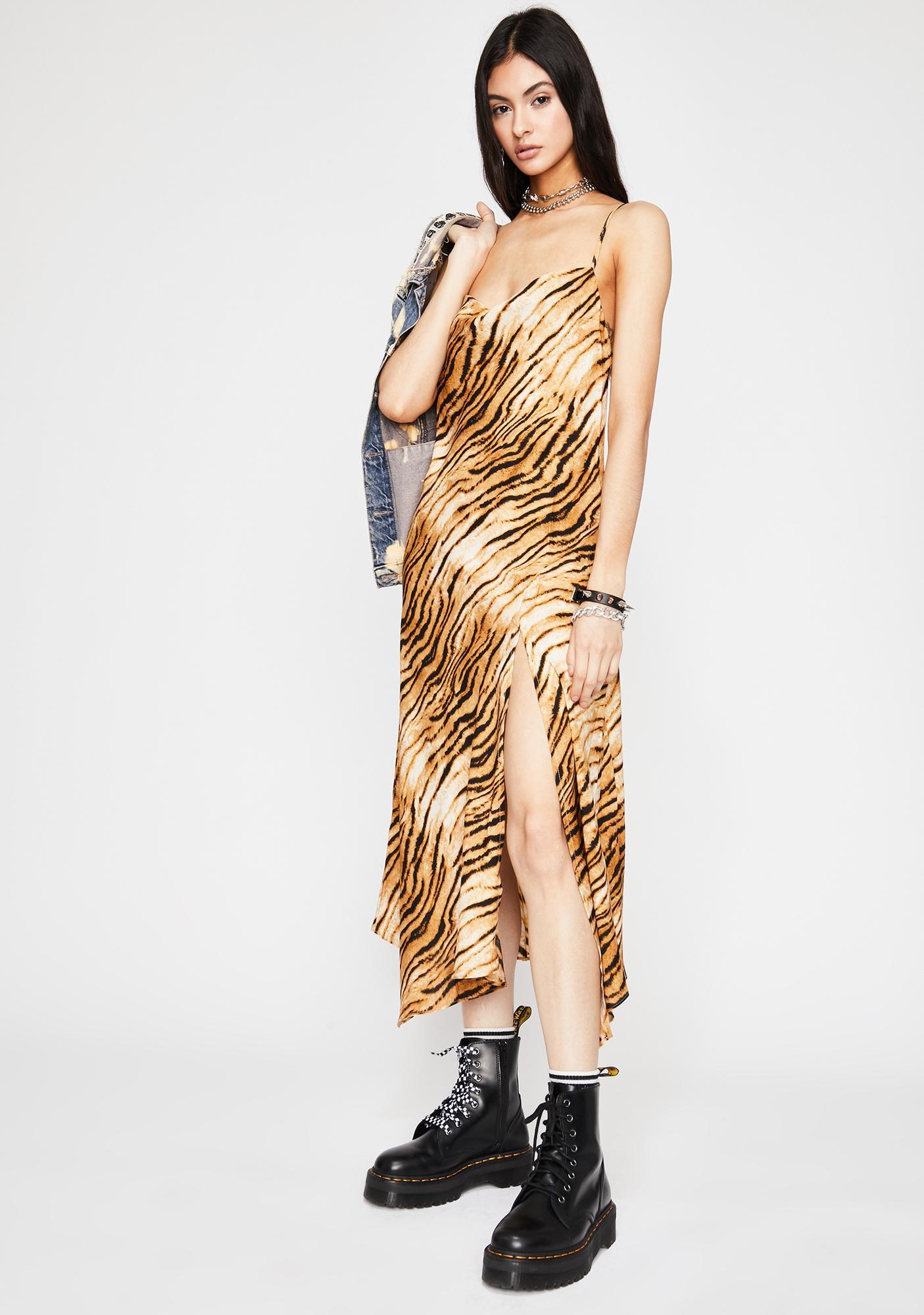 Get 'Em Tiger Maxi Dress