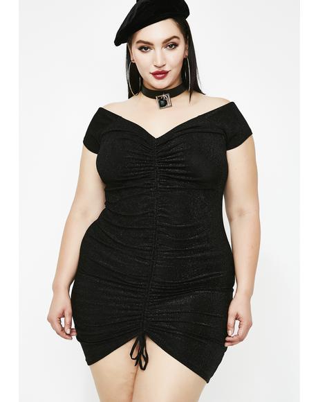 Midnight Sugar Sparkle Mini Dress