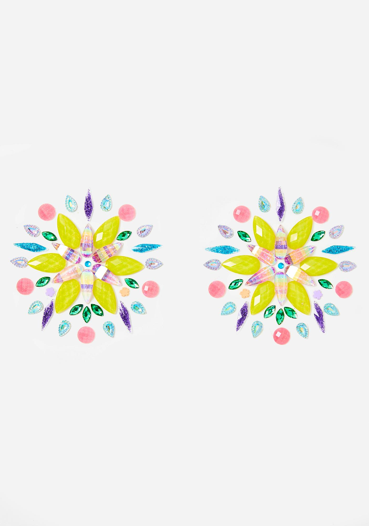 Atomic Blossoms Crystal Pasties