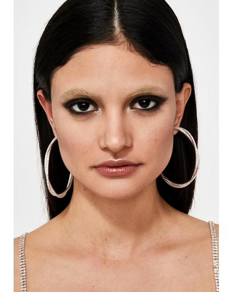 Twice As Much Rhinestone Hoops