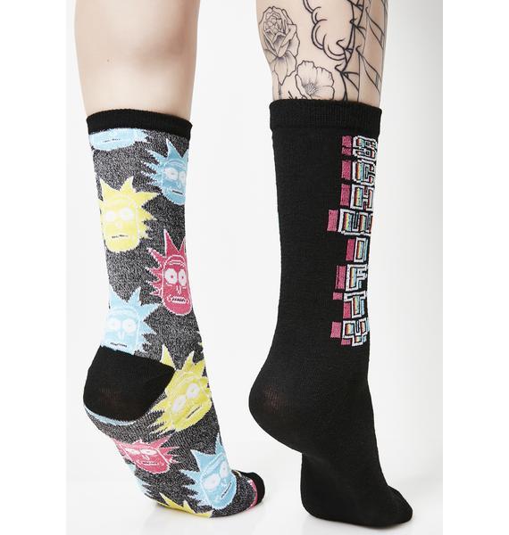 Get Schwifty Crew Socks Set