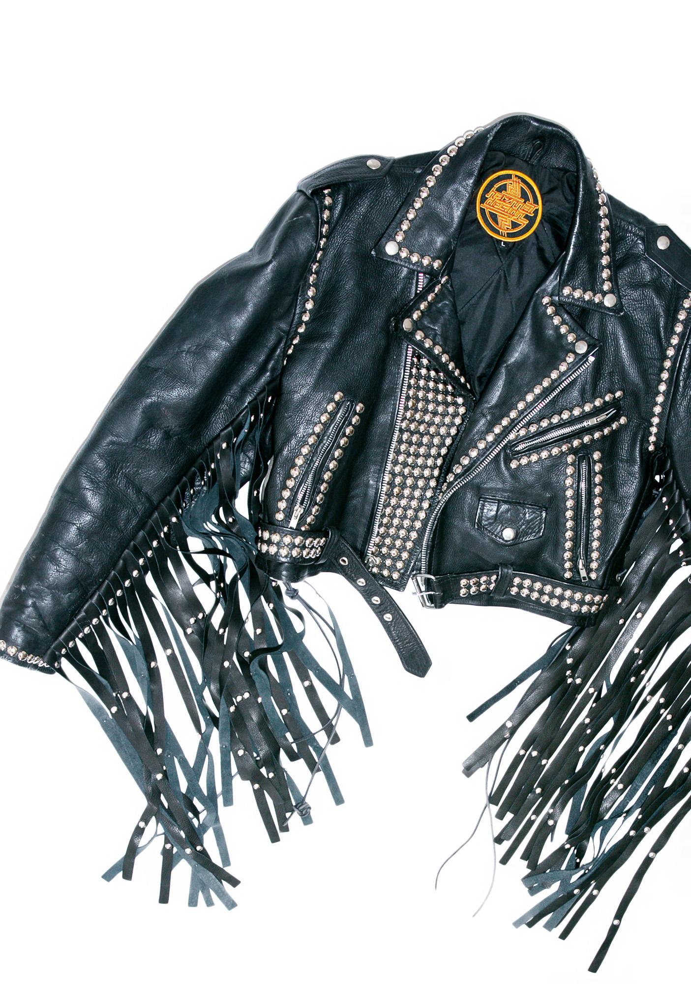 Hazmat Design Vintage Deadstock Children Of The Grave Leather Jacket
