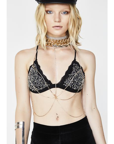 Yas Bish Sparkle Body Chain