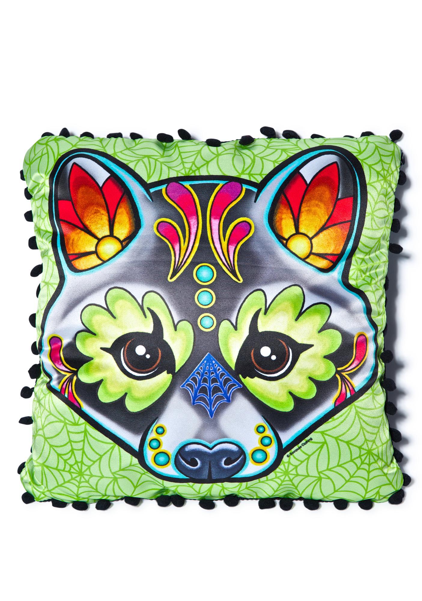 Sourpuss Clothing Racoon Woodland Pillow