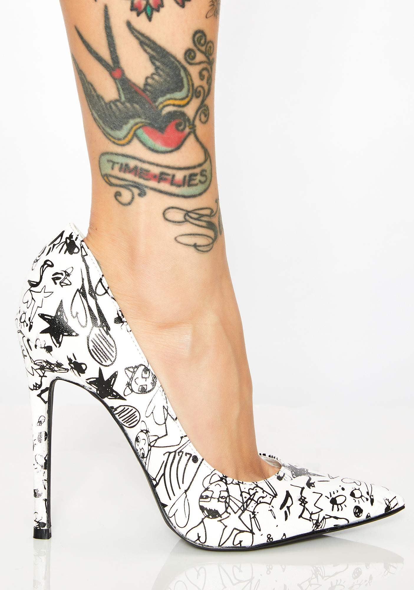 Feelin' Sketchy Drawing Heels