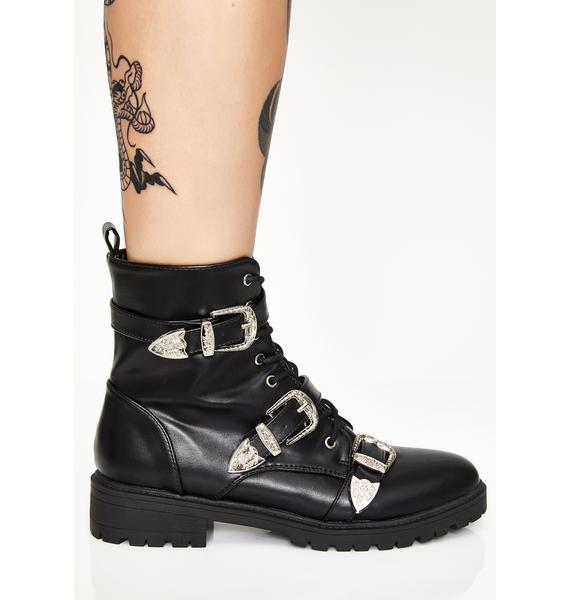 Shut 'Em Down Buckle Boots