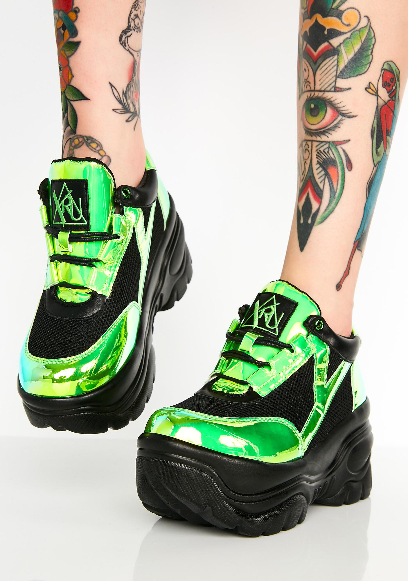 Y.R.U. Kush Matrixx Platform Sneakers