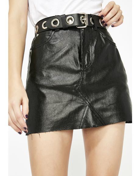 Money Spent Mini Skirt