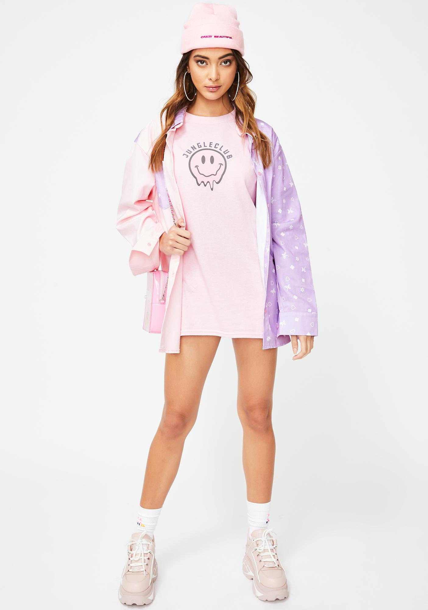 JUNGLECLUB CLOTHING Smiley Graphic Tee