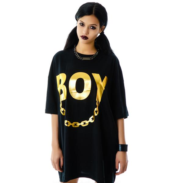 Long Clothing x BOY London Boy Chain Oversized Tee