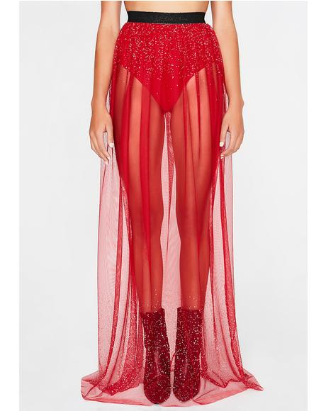 Sprinkle Me Sheer Maxi Skirt