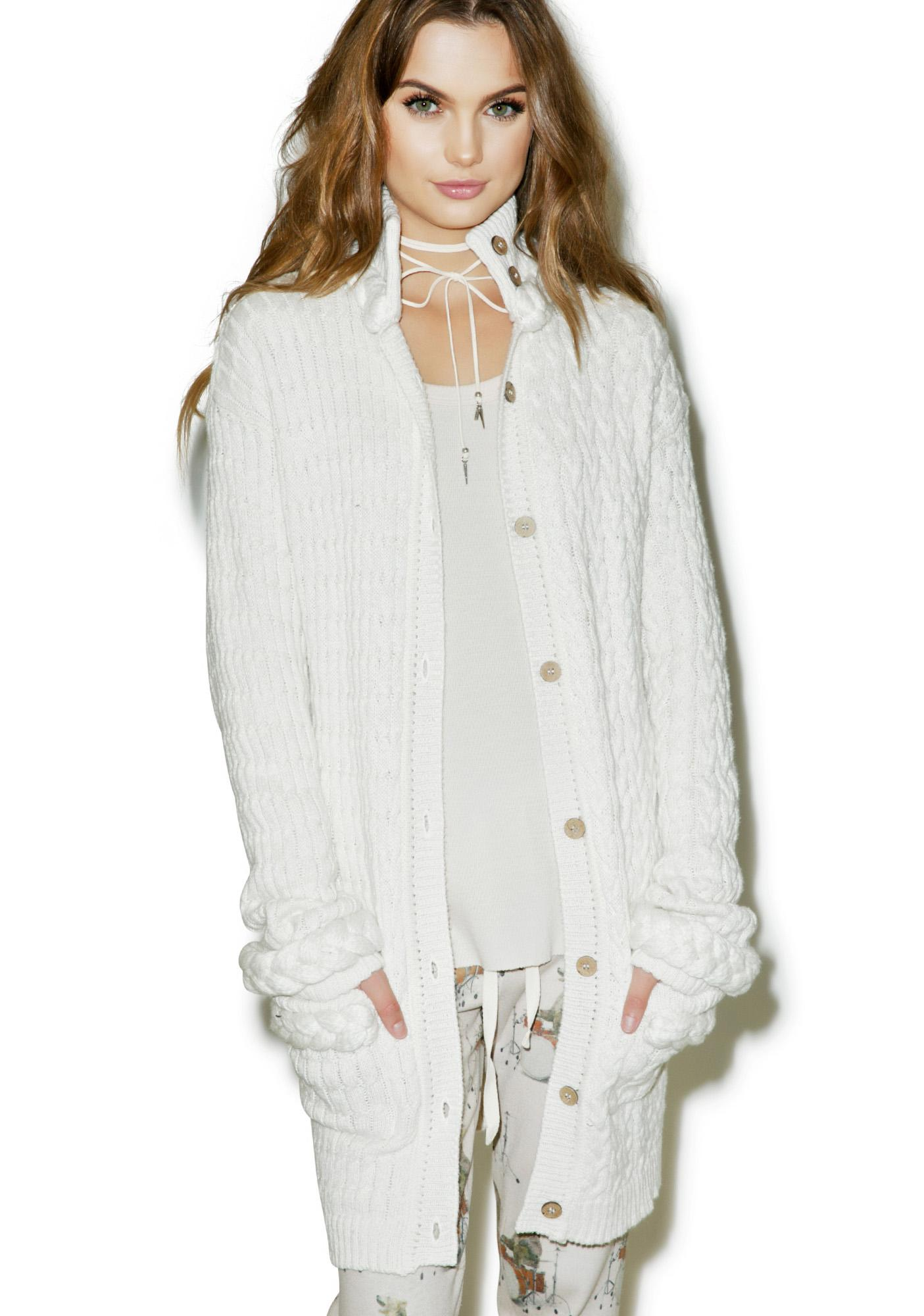 For Love & Lemons Billy Knit Cardigan