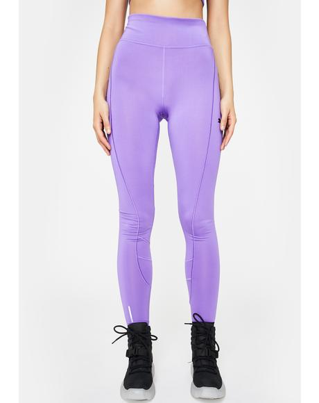 Purple Eclipse Tight Leggings